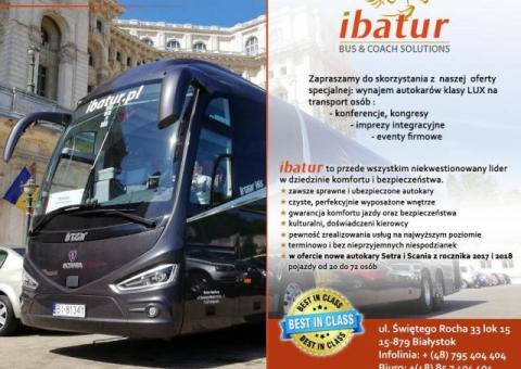Wynajem autokarów klasy lux i busów na wyjazdy integracyjne dla firm / wyjazdy służbowe